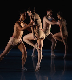 Leigh Lijoi and Jerard Palazo, Midori Nonaka and Craig Dionne in Igal Perry's Dia-Mono-Logues. Photo by Cesar Brodermann, courtesy of Peridance Contemporary Dance Company.
