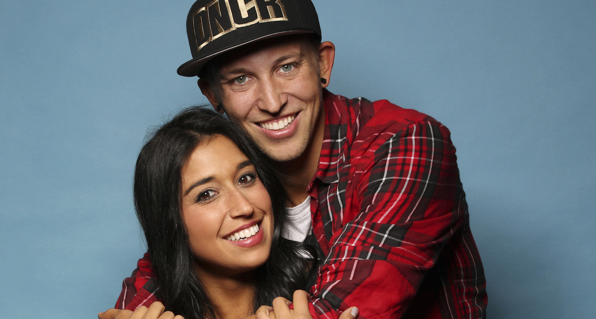 YouTube Stars Dana Alexa (left) and Matt Steffanina (right) on the 28th season of The Amazing Race. Photo by Cliff Lipson/CBS 2015 CBS Broadcasting, Inc.