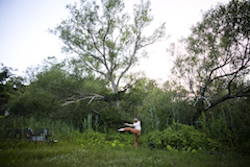 Zena Bibler in 'With' at Squires Pond, for Fleet Moves Dance Festival. Photo by Whitney Browne.