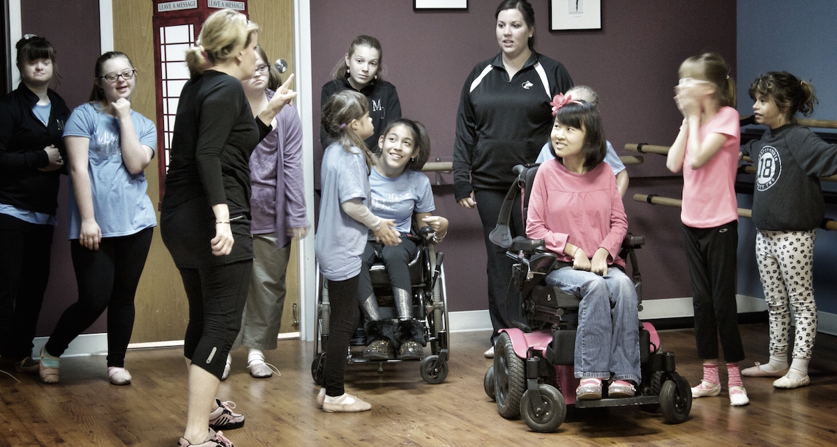 Angela Mannella-Hoffman with students at her studio, Moore than Dance. Photo courtesy of Cathy Graziano