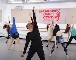 BDC faculty member Sheila Barker leads a class. Photo courtesy of Broadway Dance Center
