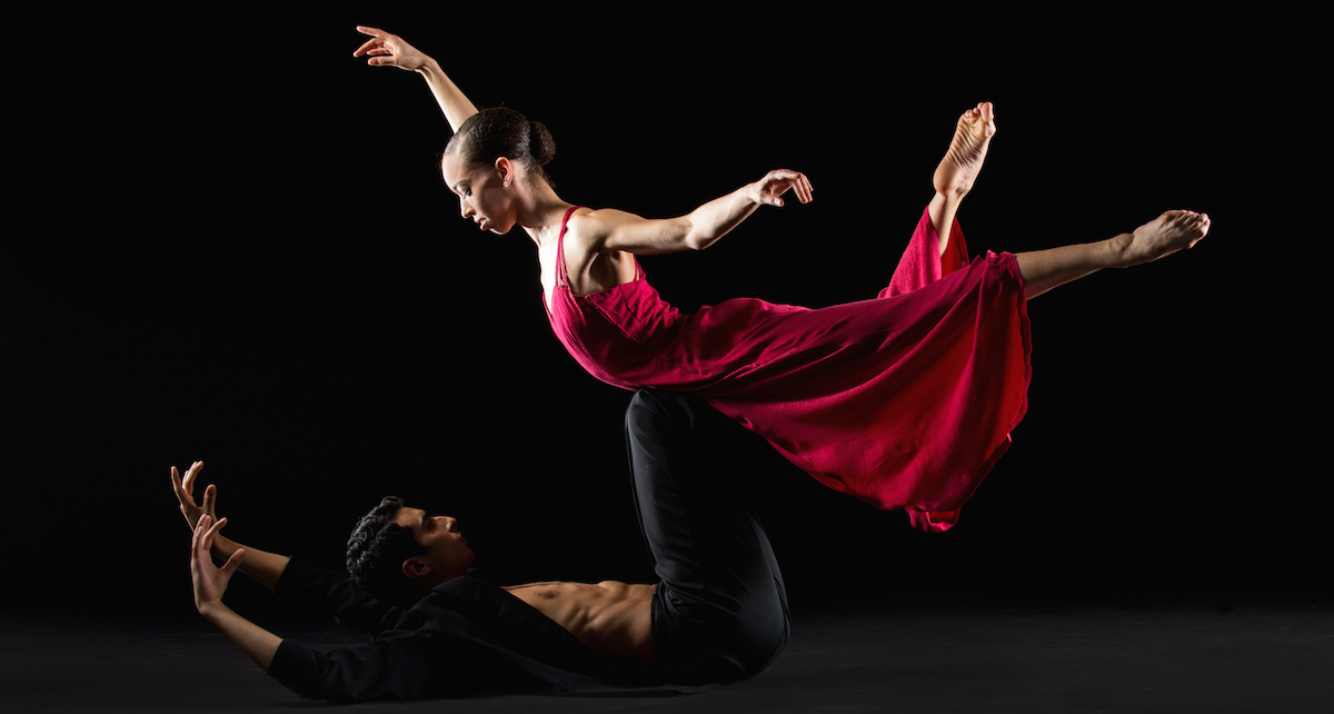 Chyrstyn Fentroy and Jorge Villarini in Nacho Duato's 'Coming Together'. Photo by Rachel Neville