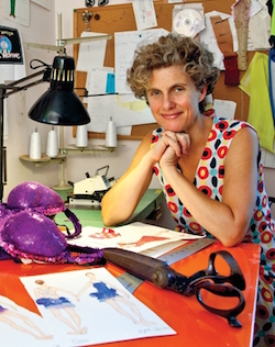 Costume designer Liz Prince in her studio. Photo by Ken Gabrielson.