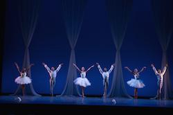 Dance Theatre of Harlem company artists in Elena Kunikova's 'Divertimento'. Photo by Rachel Neville