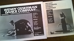 The Wendy Osserman Dance Company playbill.