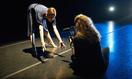 Margaret Mullin and Nel Shelby filming 'Laura's Women'. Photo by Christopher Duggan.