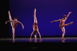 Nayara Lopes, Chyrstyn Fentroy and Stephanie Rae Williams in Dianne McIntyre's 'Change'. Photo by Jeff Cravotta