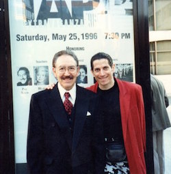 Phil Black and Alan Onickel in 1996, when Black received the Flo-Bert Award. Photo courtesy of Onickel