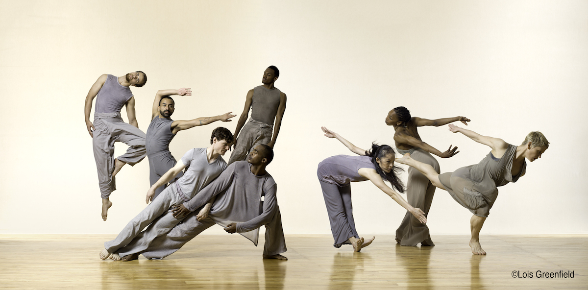 """Liz Prince brought a unified color palette to these costumes for Bill T. Jones \ Arnie Zane Dance Company's work """"Spent Days Out Yonder."""" Photo by Lois Greenfield."""