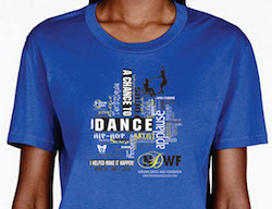 The 2016 National Dance Week t-shirt. Photo courtesy of Cathy Graziano