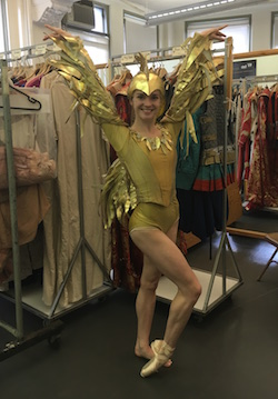 Cassandra Trenary in the The Golden Cockerel costume. Photo by Tomoko Dunbar.