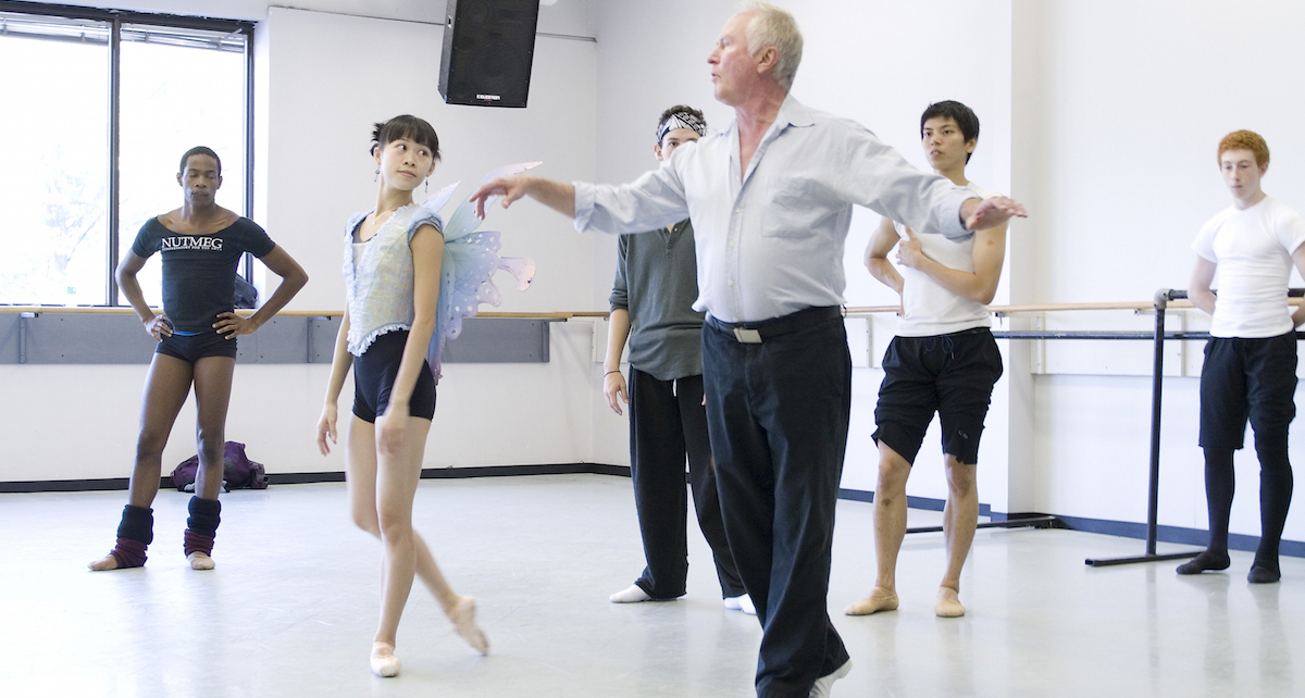 John McFall with Dancers in Peter Pan Rehearsal. 2007. Photo by K. Kenney, Courtesy of Atlanta Ballet