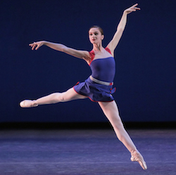NYCB's Lauren Lovette in 'Mercurial Manoeuvres'. Choreography by Christopher Wheeldon. Photo by Paul Kolnik.