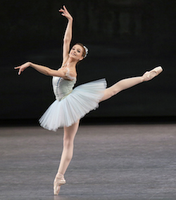 New York City Ballet Principal Lauren Lovette in 'Raymonda'. Choreography George Balanchine. Photo by Paul Kolnik.