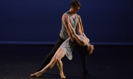 Brynt Beitman and Laura Di Orio in Lydia Johnson's 'Giving Way'. Photo by Nir Arieli.