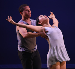 Chazz McBride and Min Kim in Lydia Johnson's 'Giving Way'. Photo by Nir Arieli