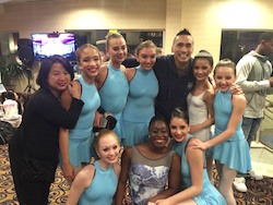 Dale Lam and students with Francisco Gella. Photo courtesy of Lam.