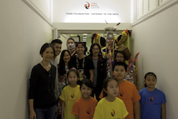 Dian Dong, H.T. Chen and students at the Chen Dance Center. Photo by Joe Boniello