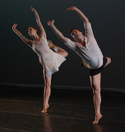 Kerry Shea and Carlos Lopez in Lydia Johnson's 'Night and Dreams'. Photo by Nir Arieli