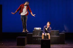 Ricky Ubeda and Matt Doyle in 'Freddie Falls in Love'. Photo by by Matthew Murphy.