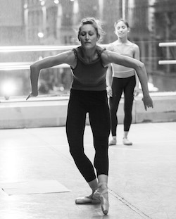 Arch Contemporary Ballet's Melissa Weber in rehearsal. Photo by Jamahl Richardson.