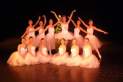 Hannah Ziegler Herman (center, as Snow Queen) with other members of George Washington University's Balance, a ballet-focused student organization. Photo courtesy of Ziegler Herman.