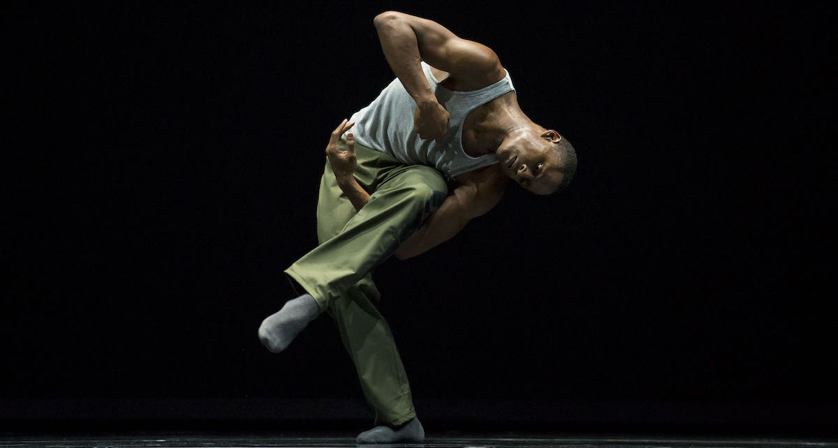 Hubbard Street dancer Jeffery Duffy in 'N.N.N.N.' by William Forsythe. Photo by Todd Rosenberg.