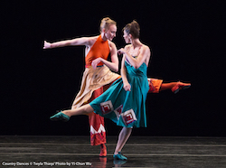 Kaitlyn Gilliland and Eva Trapp in Twyla Tharp's 'Country Dances'. Photo by Yi-Chun Wu.