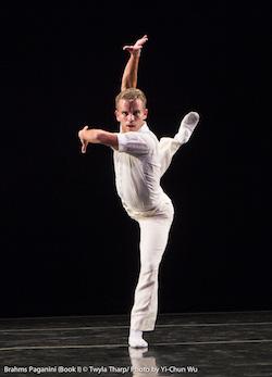 Reed Tankersley in Twyla Tharp's 'Brahms Paganini'. Photo by Yi-Chun Wu.