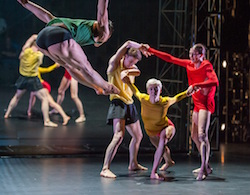 The Park Avenue Armory presents 'Tree of Codes', directed and choreographed by Wayne McGregor, performed by dancers from Paris Opera Ballet and Company Wayne McGregor. Photo by Stephanie Berger.