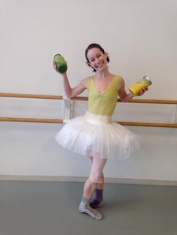 Atlanta Ballet's Alessa Rogers brings her homemade smoothies to the studio. Photo courtesy of Rogers.