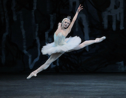 Sara Mearns in Peter Martins' 'Swan Lake'. Photo by Paul Kolnick.