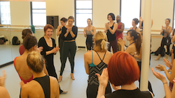 Donna McKechnie leading an ADM21 Repertory Class at Steps. Photo courtesy of Steps.