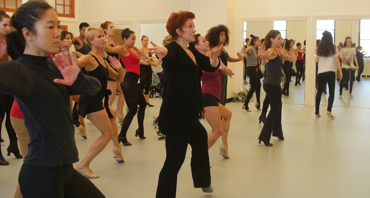 Donna McKechnie teaching an ADM21 Repertory Class at Steps. Photo courtesy of Steps.