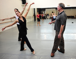 Jean-Pierre Bonnefoux with dancer Jamie Dee Clifton. Photo by Peter Zay.