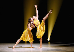 Contestant Tate McRae and all-star Kathryn McCormick perform a contemporary routine to 'The Gift', choreographed by Stacey Tookey, on the Season Finale Episode of 'SYTYCD'. Photo courtesy of FOX, by Adam Rose.
