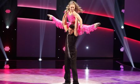 "Contestant Tate McRae and all-star Jonathan Perez perform a Salsa routine to ""Robi-Rob's Boriqua Anthem"" choreographed by Stephanie Stevenson on SYTYCD. Photo courtesy of FOX, by Adam Rose."