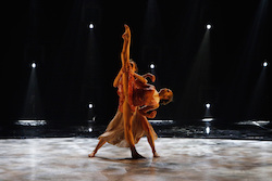 Contestant Tate McRae and all-star Kathryn McCormick perform a contemporary routine to 'She Used To Be Mine', choreographed by Travis Wall, on 'SYTYCD'. Photo courtesy of FOX, by Adam Rose.