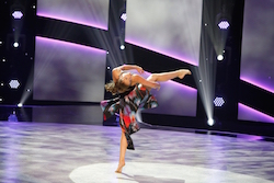 'SYTYCD' contestant Tate McRae performing a solo routine to 'Easy (Switch Screens)'. Photo courtesy of FOX, by Adam Rose.