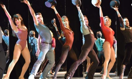 Ashley Klinger (center) in 'A Chorus Line'. Photo courtesy of production B-roll.