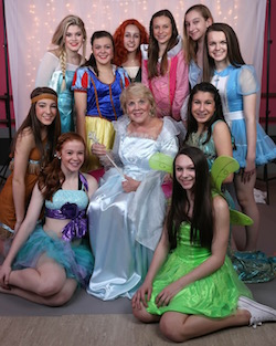 CK DanceWorks dancers, dressed as Disney princesses, volunteering their time for a Father Daughter Breakfast fundraiser. Photo by Cassie Williams.