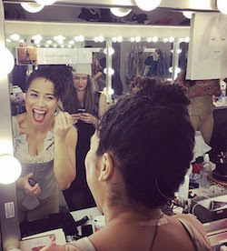 Chloe Campbell behind the scenes at 'Hamilton' Chicago. Photo courtesy of Campbell.