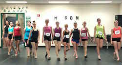 Dancers learn to model