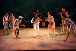 Dorrance Dance, along with Toshi Reagon and BIGLovely, in 'The Blues Project'. Photo by Christopher Duggan.