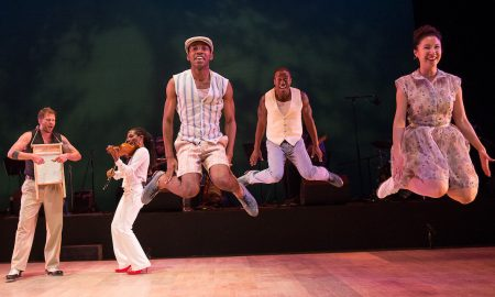 Dorrance Dance, along with Toshi Reagon and BIGLovely in 'The Blues Project'. Photo by Christopher Duggan.