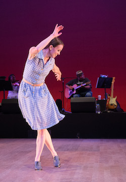 Michelle Dorrance in Dorrance Dance's 'The Blues Project'. Photo by Christopher Duggan.
