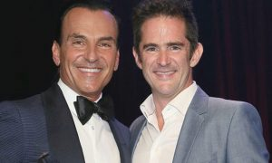 Joe Lanteri and Andy Blankenbuehler at the Career Transition For Dancers 31st Jubilee. Photo courtesy of Lanteri.