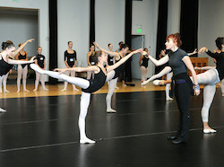 Josie Walsh teaching at Joffrey Ballet School San Francisco. Photo by Jody Q. Kasch.