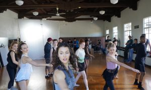 Kathryn McCormick and dancers of 'Lift Me Up'. Photo courtesy of North of Two.