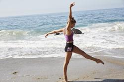 Rachelle di Stasio models Energetiks dancewear